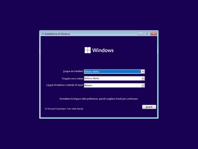 Installazione Windows 11