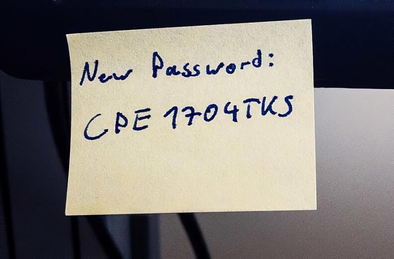 Password Su Post It