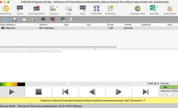 Trascrivere Registrazione Audio Su Mac Con Express Scribe