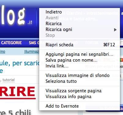 menu contestuale tasto destro su tutti i siti web