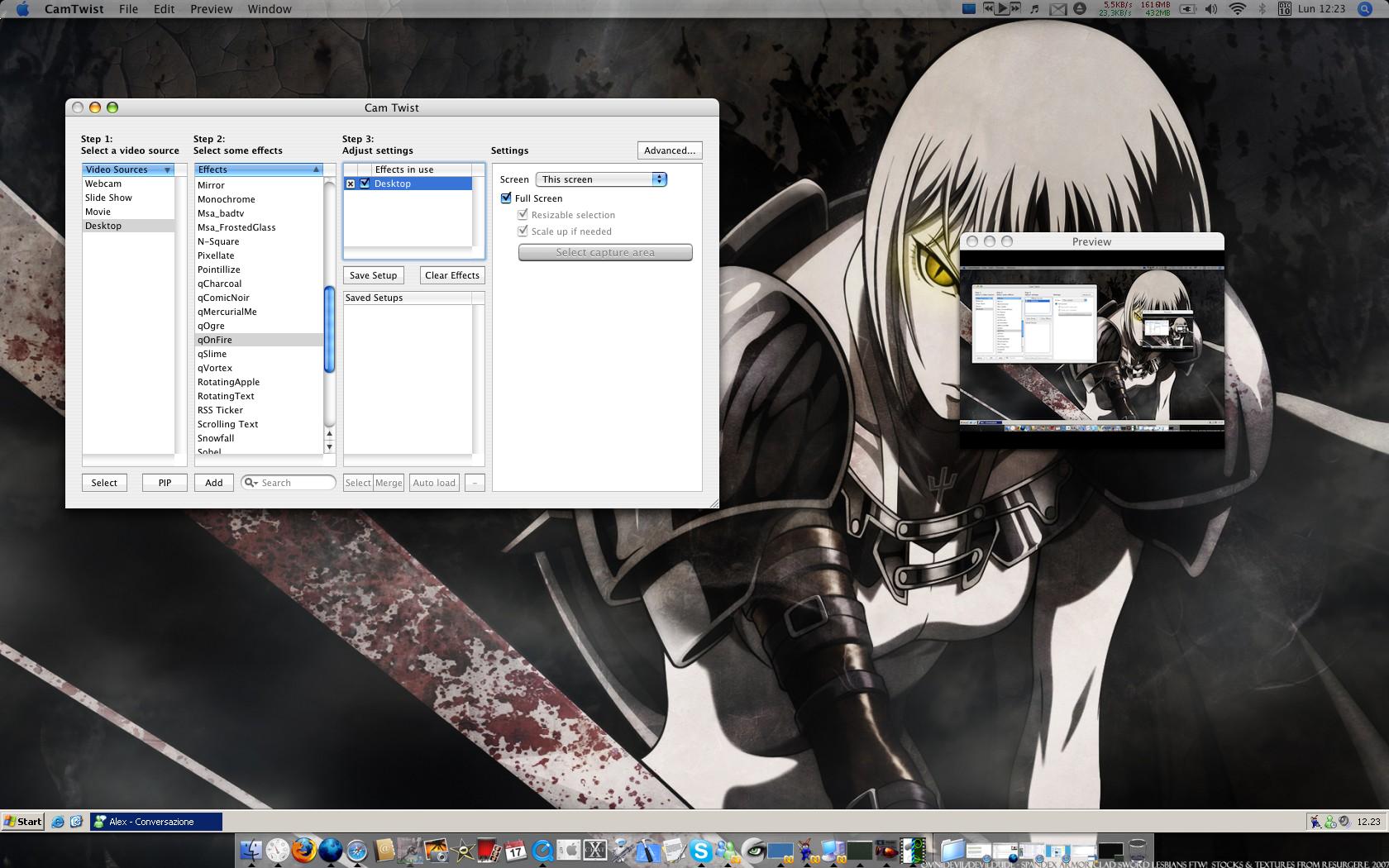Effetti webcam con CamTwist su Mac