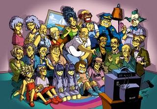 I Simpson in stile manga