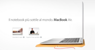MacBook Air : il portatile più sottile al mondo