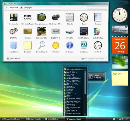 Sidebar + Gadget di Vista anche su Windows XP